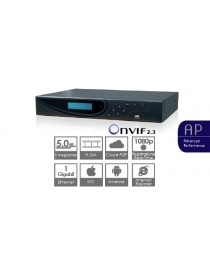 NVR 16CH,5MP,VGA,HDMI,2HD,H.264,SMART F