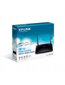 ROUTER TP-LINK ARCHER D20 AC750 WIRELESS DUAL BAND CON MODEM ADSL2+