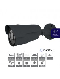 IP BIR 3MP,H.265,2.8-12,POE,ONVIF,GRIGIA