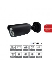IP BULLET IR 1.3MP,ICR,3.6MM,12V,POE,NERO